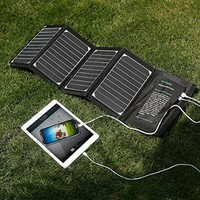 Poweradd 20W Dual USB Port Solar Charger for Apple iPhone 7s Plus 7 6s 6, iPad, iPod, Android, Samsung, HTC, LG, Nexus, Gopro, MP3 Players, External Batteries and More