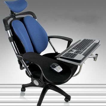 Multifunctional Lazy Chair Lift Rotatable Bracket Foldable Laptop Stand Computer Desk Keyboard Tray Include Mouse-Pad