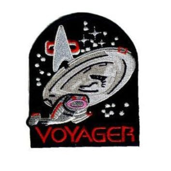 Lot of Ten STAR TREK VOYAGER SHIP Iron Sew On Embroidered Patches