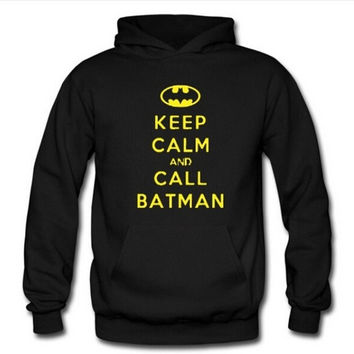 Fashion batman logo sweater,keep calm and call batman logo hooded,lover sweater