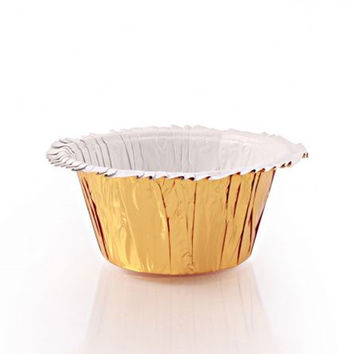 Ruffle Black Gold Foil Baking Cups/Case of 384