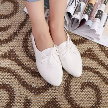 Fashion Women Ballet Flats Leather Loafers Summer Women Casual Shoes Flat Comfortable Slip On Moccasins Zapatos Mujer 2018 New