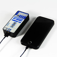 Star War R2D2 Power Bank External Battery Charger for iPhone and Samsung Andriod