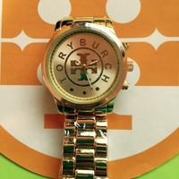 Gold Tory burch inspired watch