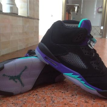 "Air Jordan 5 Retro ""Black Grape""Basketball shoes Size 23-47"