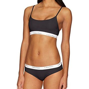 DCCKG2C Calvin Klein Women's CK One Cotton Bralette and Bikini Set