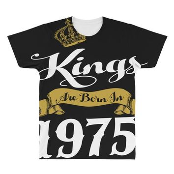 kings are born in 1975 All Over Men's T-shirt