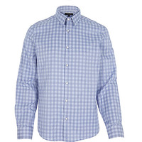 River Island MensBlue Prince of Wales check shirt