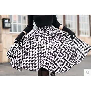 winter le palais vintage 50s knitting houndstooth circle swing s 505f256d0f2c