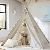 Gray Mini Dot Teepee | Pottery Barn Kids