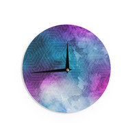 "Matt Eklund ""Going Home"" Blue Purple Wall Clock"