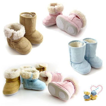 Baby Warm Winter Boots Shoes Fur Lining Boys Girl Snow 6-24 Month Infant Toddler = 1932284548