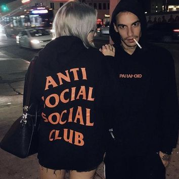 ESBKG5 Undefeated Anti Social Social Club Lover Fashion Print Top Sweater Pullover Hoodie
