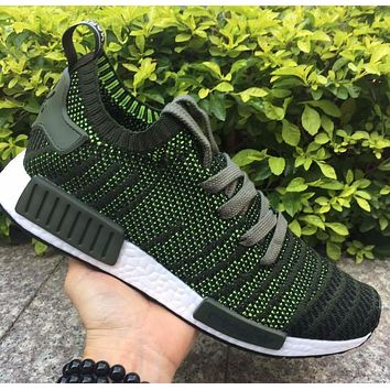 Adidas NMD R1 Stlt Spring Summer 2018 Line up Green/Black Running Sport Shoes Camouflage Sneakers Casual Shoes