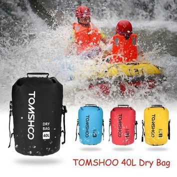 ONETOW TOMSHOO 40L Waterproof Dry Bag Swimming Bags Camping Hiking Dry Organizers Outdoor Bag Cycling Backpack Rafting Kayak Equipment