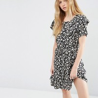 ASOS Ditsy Ruffle Mini Tea Dress at asos.com