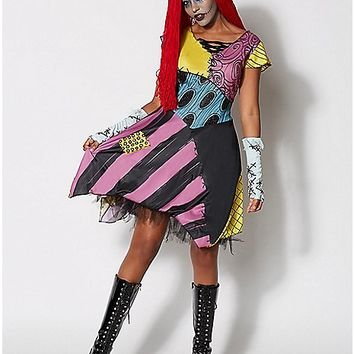 Adult Sassy Sally Costume - The Nightmare Before Christmas - Spencer's