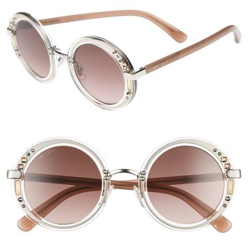 Jimmy Choo Gems 48mm Round Sunglasses | Nordstrom