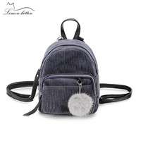 Lemon Kitten Canvas Korean Mini Small Backpack Retro Female Backpack Student School Bag Rucksack Mochila Escolar