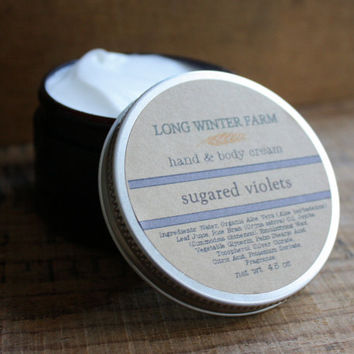 Sugared Violets Skin Cream by LongWinterSoapCo on Etsy