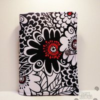 Kindle Fire HD, iPad Mini, Nook HD, Nexus 7, Kobo Touch Padded Book-Style eReader Case/Cover: Night Blossom ANY eREADER
