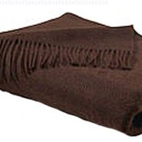 Peach Couture Home Collection Luxurious 100% Cashmere Soft Elegant and Warm Throw Blanket 50 x 60 in (Chocolate Brown)