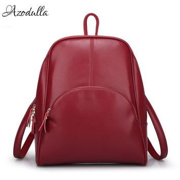DB138 Hot! Leather Women's Backpack Schoolbag Female Backpacks Women Preppy Style High Quality Rucksack Sweet Ladies Knapsack