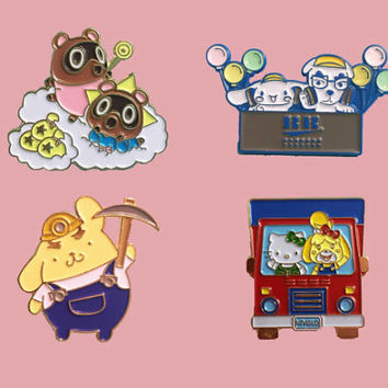 Animal Crossing enamel pins
