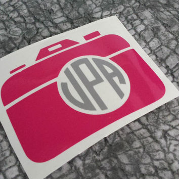 Camera Monogram Decal | Camera Monogram | Camera Decal | Decal | Photographer Decal | Instagram Decal | Photo | Car Decal | Camera | Glitter