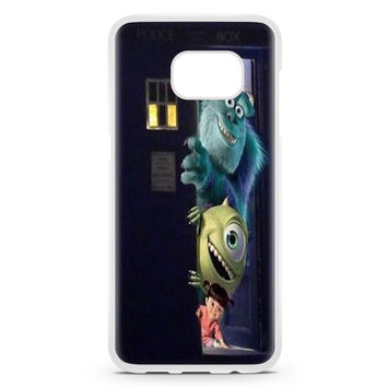 Sully Mike And Boo In The Tardis Monsters Inc Samsung Galaxy S7 Edge Case