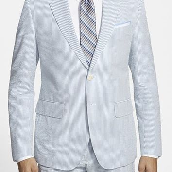 Men's Haspel Trim Fit Seersucker Cotton Sport Coat