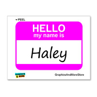 Haley Hello My Name Is Sticker