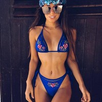 Beach Summer Sexy Hot New Arrival Swimsuit Print Swimwear Floral Bikini [520205041679]