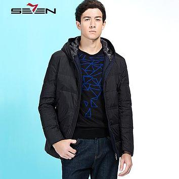 Seven7 2017 New Arrival Classic Down Jacket Winter Warm Casual Fashion Solid Down Jacket For Men 90% White Duck Down 111K20210
