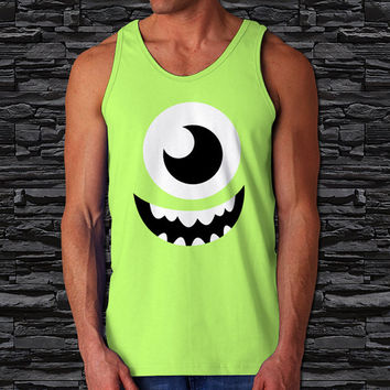 "Mike Monster University Mens Tank Top, Disney Monsters, Inc. Tank Top (Print Size 12""x12"")"