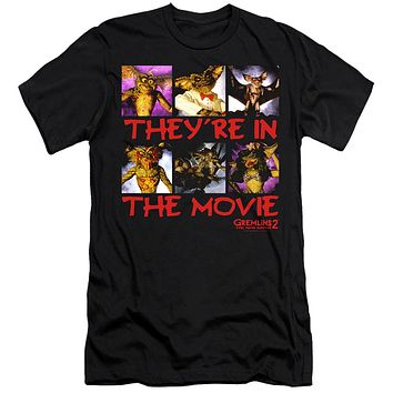 Gremlins 2 Slim Fit T-Shirt They're in the Movie Black Tee