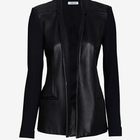 Helmut Lang Ink Leather Suiting Blazer
