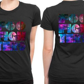 Foo Fighter Logo Colorize 2 Sided Womens T Shirt