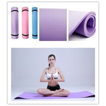 "6mm Thick Non-Slip Yoga Mat Exercise Fitness Lose Weight 68""x24""x0.24"" HS-n6 [8069648263]"