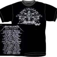 Metallica T-Shirt - World Magnetic Tour World Magnetic