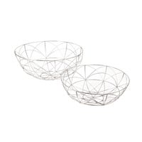 Set of Two Silver da Vinci Bowls design by Lazy Susan | BURKE DECOR