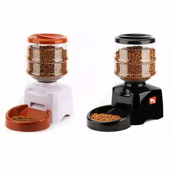 Hoopet 5.5L Automatic Pet Feeder with Voice Message Recording and LCD Screen Large Smart Dogs Cats Food Bowl Dispenser