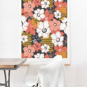 Heather Dutton Petals And Pods Lava Art Print And Hanger