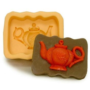 Soap Mold Teapot  Flexible Silicone Mould For Handmade Soap Candle Candy Cake Fimo Resin Crafts polymer clay mold