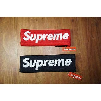 Supreme Street Fashion Fleece Lined Headband