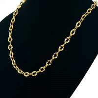 Yellow Gold Plated Solid Exquisite Stainless Steel Body Chain Necklaces for Women and Men Vintage Jewelry