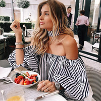 Sunday Brunch Puff Sleeve Striped Blouse