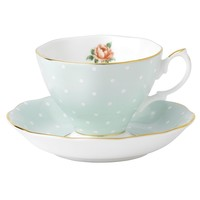 Royal Albert Dinnerware, Old Country Roses Polka Rose Cup and Saucer - Fine China - Dining & Entertaining - Macy's
