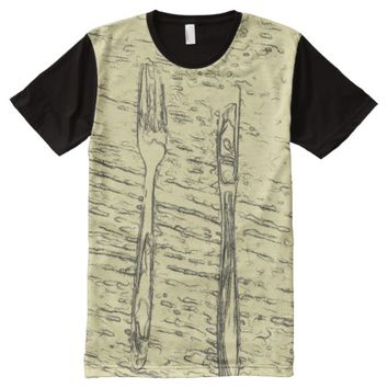 fork and knife All-Over-Print shirt