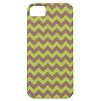 Chevron Acid Green And Brown iPhone 5 Covers